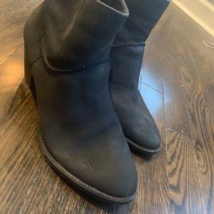 Steve Madden Black suede ankle boots